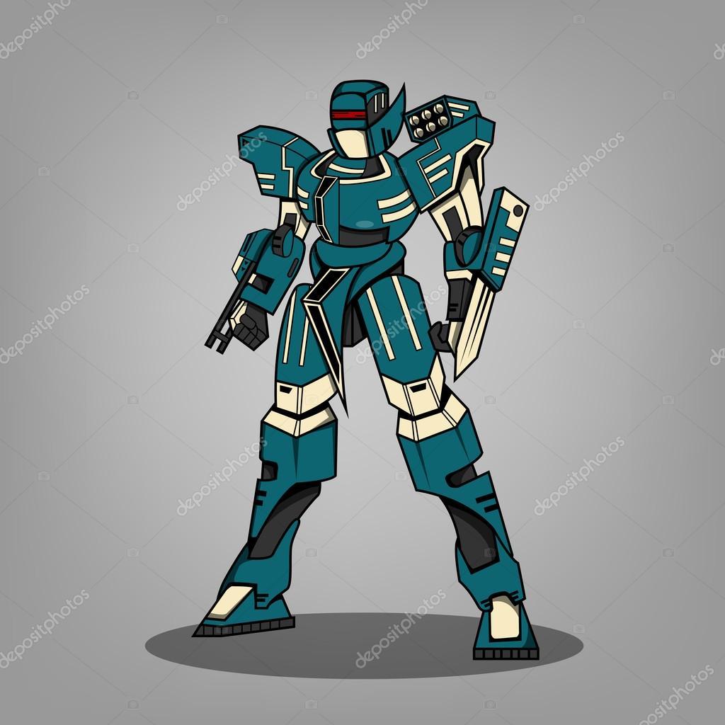 War Robots Dibujos Super War Robot Stock Vector C Ragakawaw