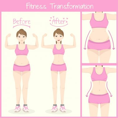 Before and After Female Body