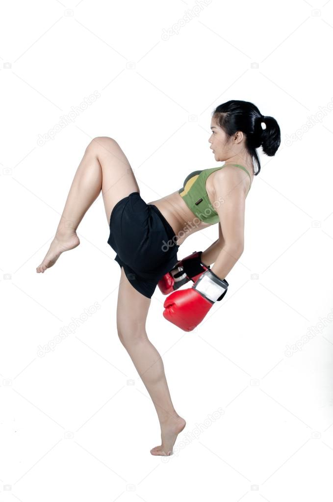 Asian Female Fighting