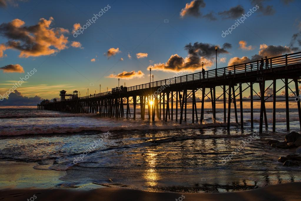 Summer sunset in Oceanside, California
