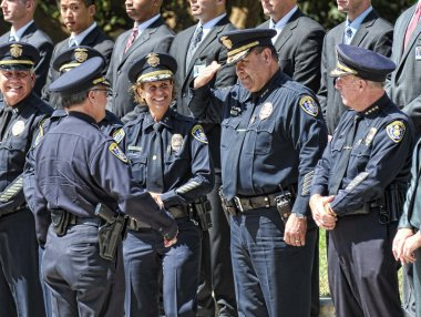 Police Retirement ceremony in San Diego, California