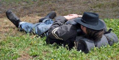 American Civil War reenactment.
