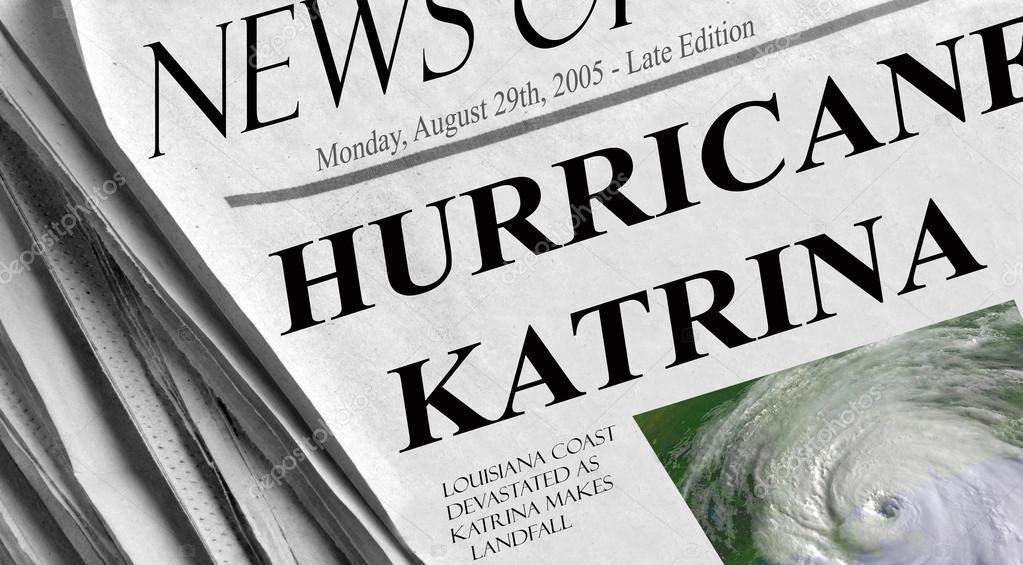 Hurricane Katrina slams into the gulf