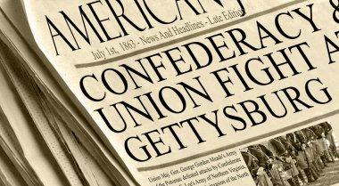 Union And Confederacy Battle in Gettysburg