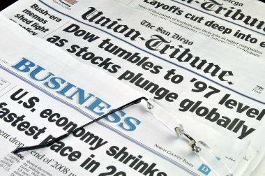 Negative Newspaper headlines