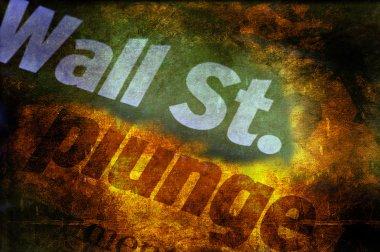 Wall Street Plunge Grunge