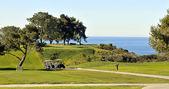 Torrey pines golfové hřiště - na bluffs nad Tichým oceánem v san Diegu, Kalifornie