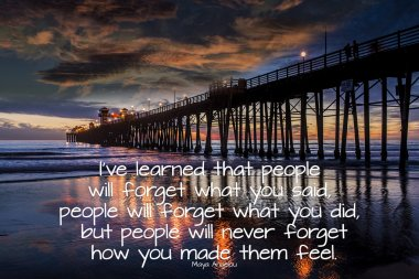 Oceanside Pier California with quote