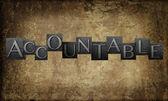 Fotografie Word Accountable