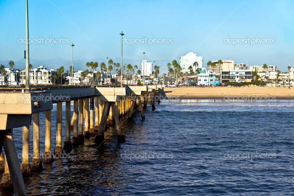 Venice Beach Pier In California Stock Photo