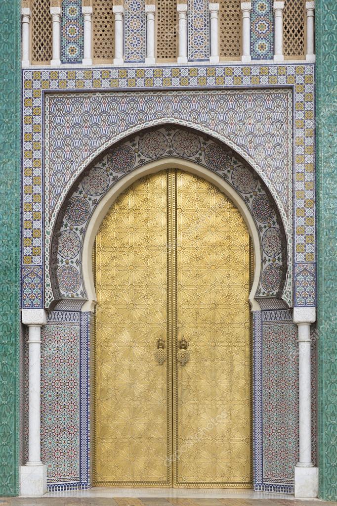 Oriental door in Morocco u2014 Stock Photo & Oriental door in Morocco u2014 Stock Photo © haraldmuc #39511775