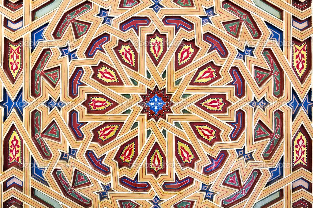 Decoratie op oosterse gebouw marokko u stockfoto haraldmuc