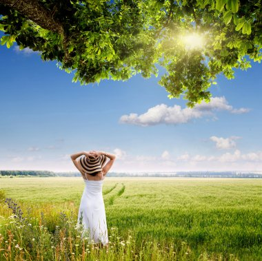 Girl in a meadow