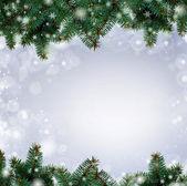 Fotografie Weihnachtsbaum-Filialen-Grenze gegenüber dem weißen Hintergrund (mit sampl