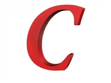 3D render of the text C