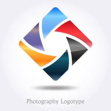 Photography company logo #vector