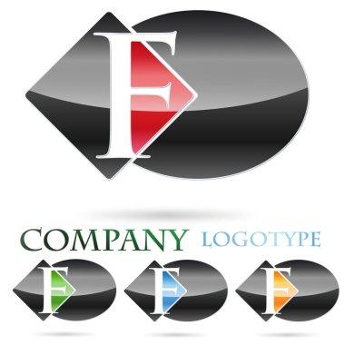 Logo initial letter F # Vector