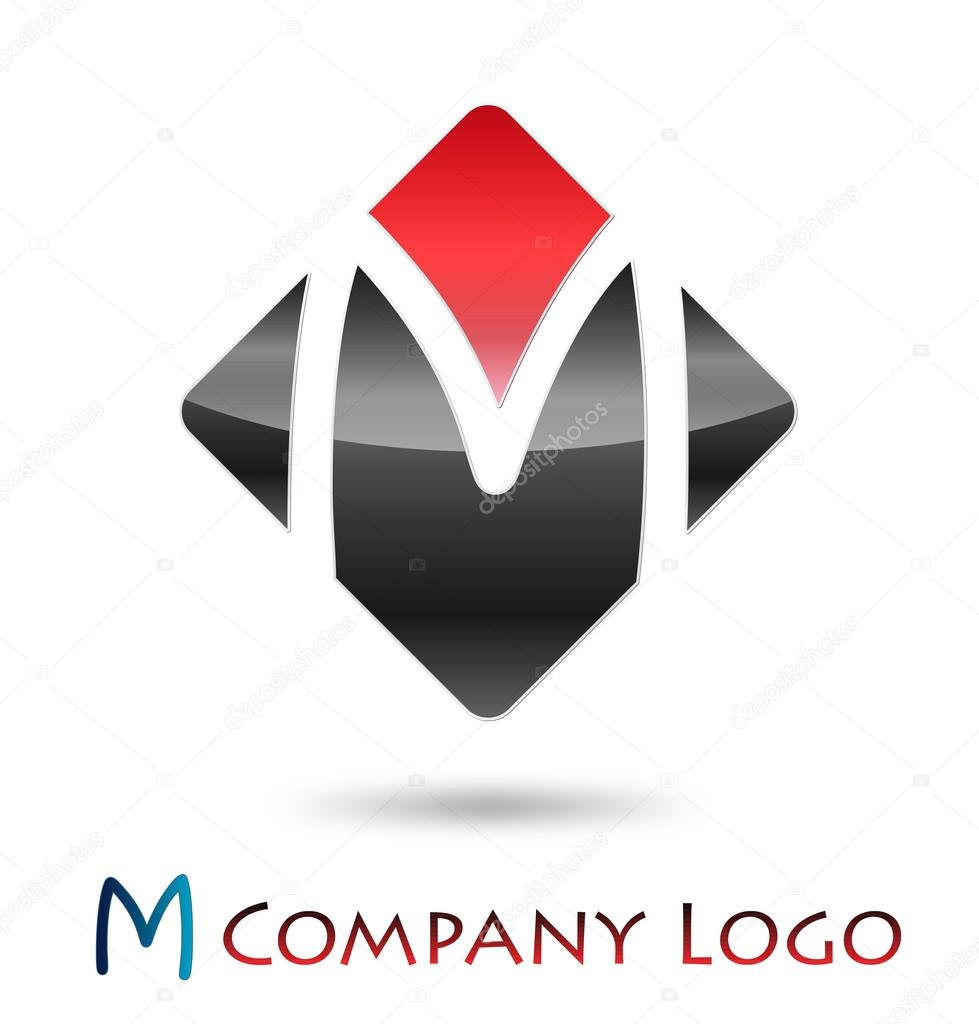 logo initial letter m vector stock vector maxmitzu. Black Bedroom Furniture Sets. Home Design Ideas