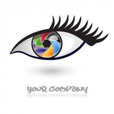 Logo multicolored eye, iris # Vector