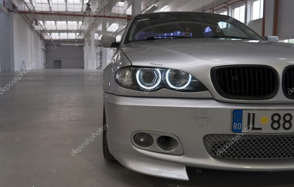 Grey BMW serie 3 at the 4Tuning Fest Auto Show Bucharest, Romania