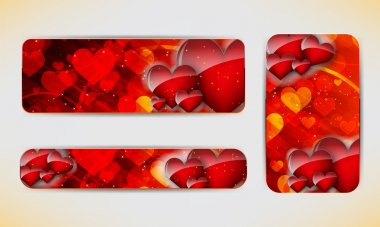 Valentines Day banners.
