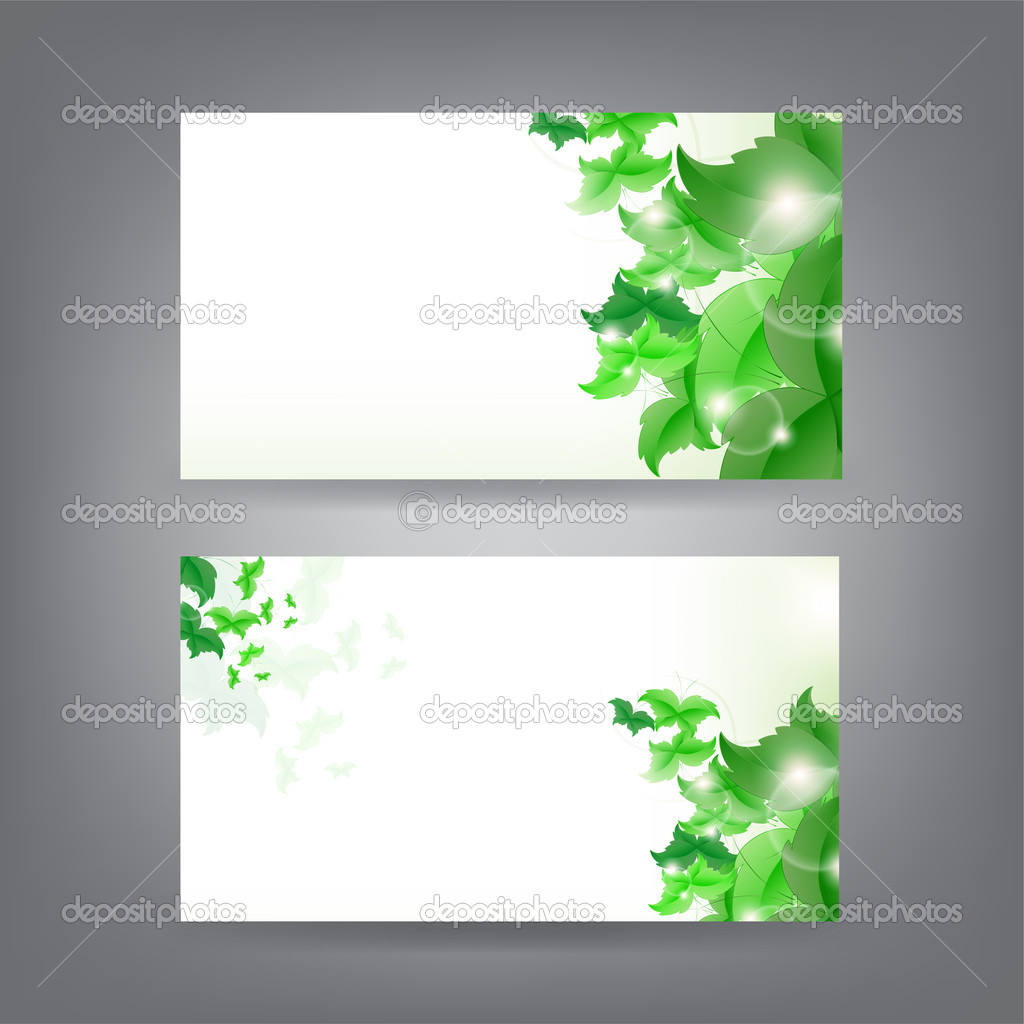 Environment theme business card template — Stock Vector © maxmitzu ...