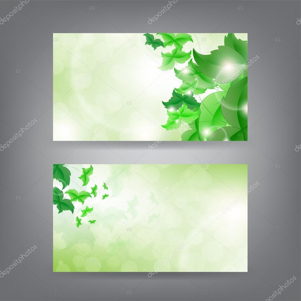 Modle De Carte Visite Thme Environnement Avec Rallonge Papillon Vert Vecteur Par Maxmitzu