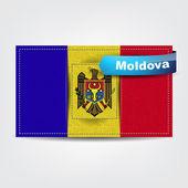Fotografia trama del tessuto della bandiera della Moldavia