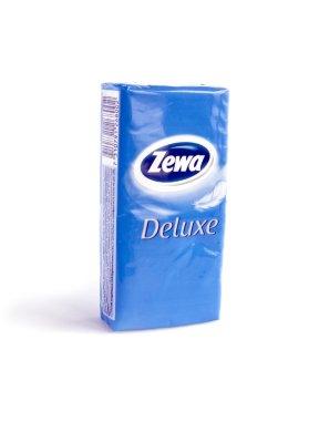 Pack of Zewa Deluxe napkins isolated on white background