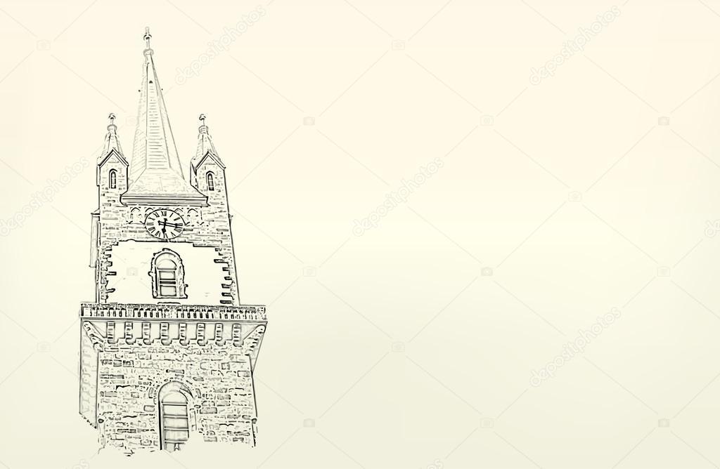 Architektura Skica Kresba Budovy Stock Vektor C Maxmitzu 49308883