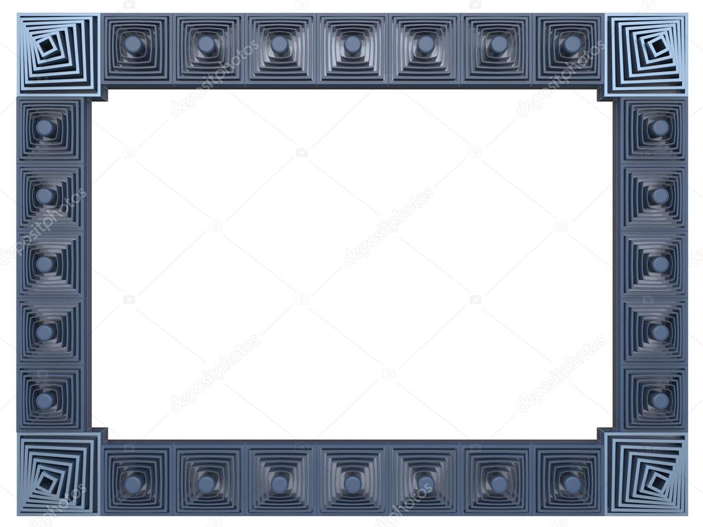 Abstract frame isolated on white background 3d rendering stock abstract frame isolated on white background 3d rendering photo by ffsettler jeuxipadfo Gallery