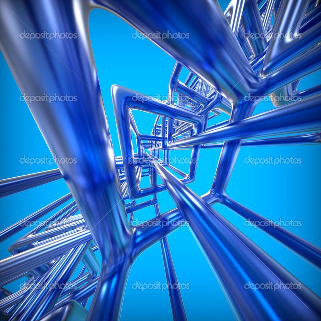 absztrakt technológia 3d háttér fémes téglalapok — Stock Fotó ... 3c2c3b1336