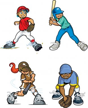 Baseball Little League Players