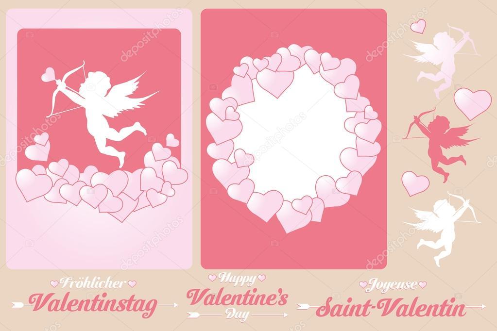 Zestaw Kart Dla Walentynki Grafika Wektorowa Vivelafrance 38790019