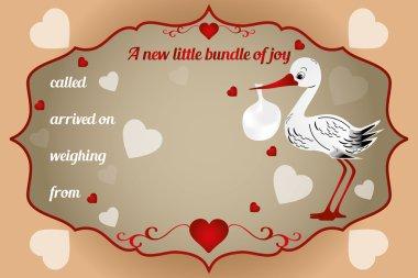 New little bundle of joy card