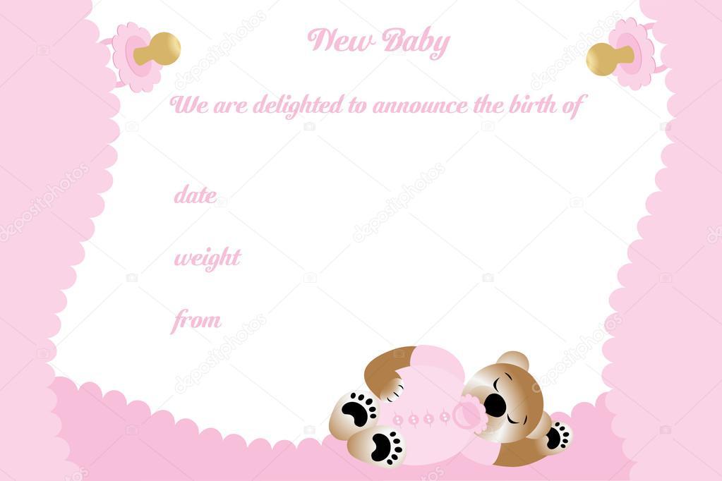 Carte D Anniversaire Pour Fille Avec Ours Mignon Image Vectorielle