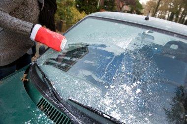 Frost on car window