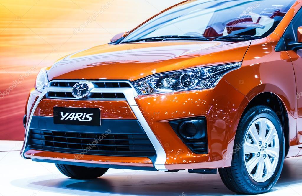 BANGKOK - DECEMBER 1 : Toyota Yaris on display at The 30th Thail
