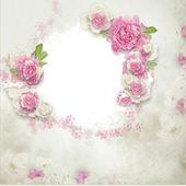Fotografie Frame of flowers