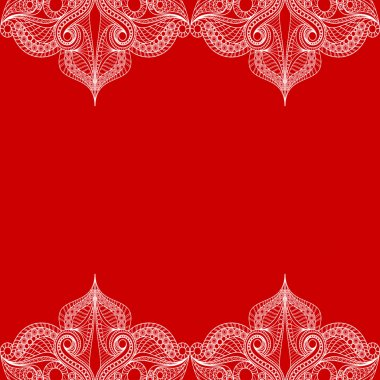 Print Greeting card or invitation card.Seamless background with lace ornament. vector illustration
