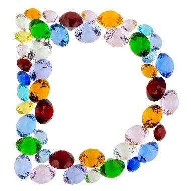 Letter D of gems