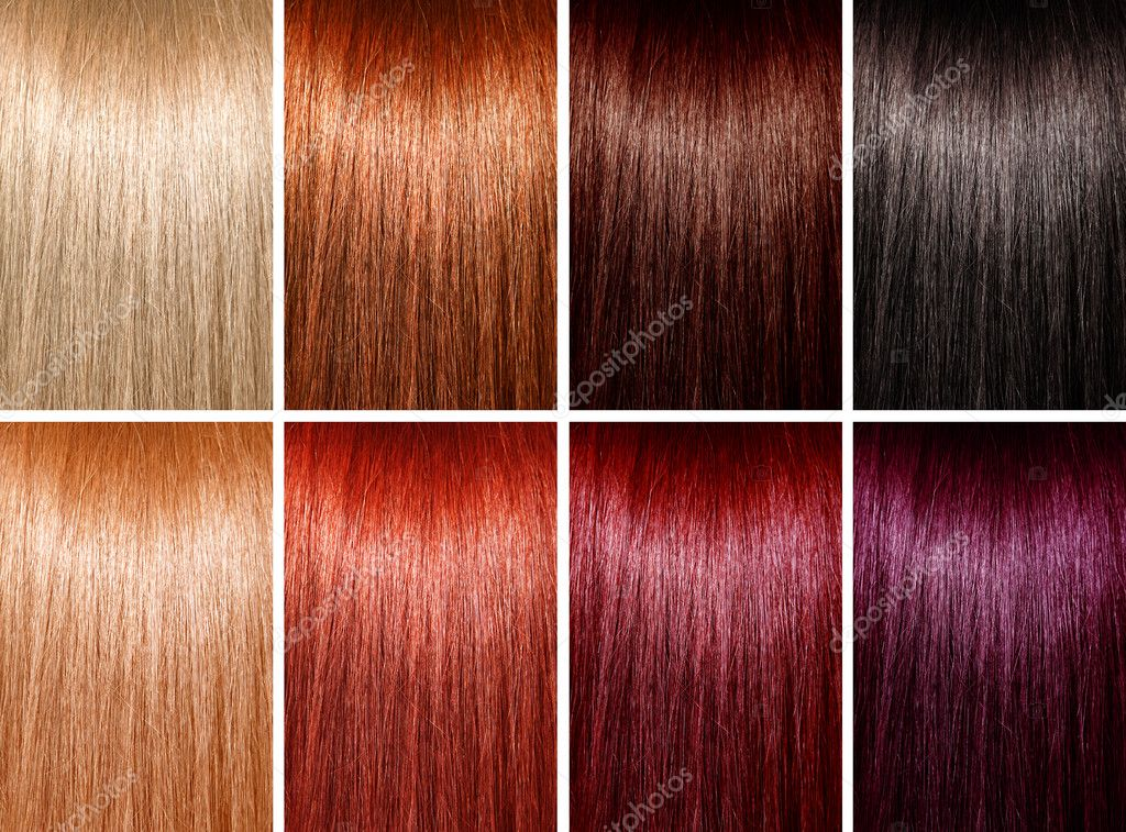 Example Of Different Hair Colors Stock Photo Suravid 21942701