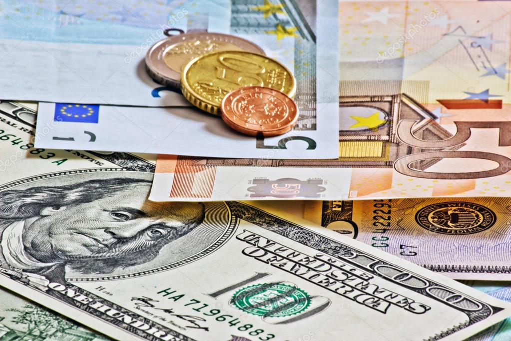 Dollars Euro And Czech Money Stock Image
