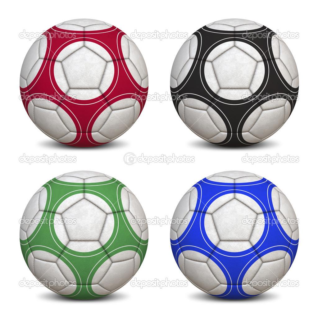 colección de pelotas de fútbol — Fotos de Stock © brunoil  13883112 96c7476ca9289