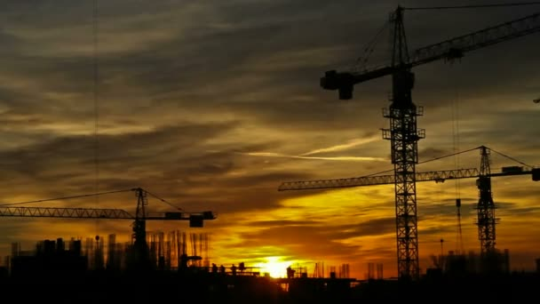 Construction cranes timelapse