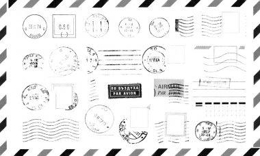 Rubber Stamps on Envelope