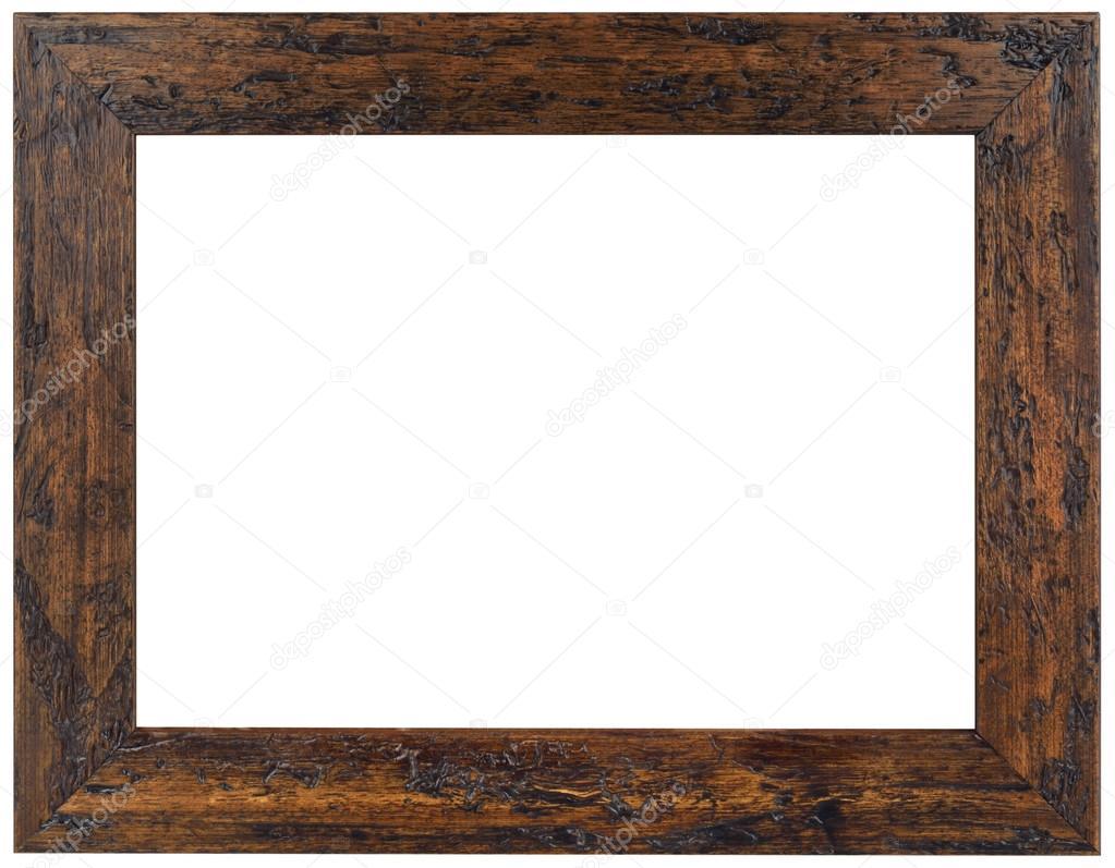 деревянная рамка старый коричневая деревянная рамка вырез