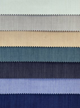 Cold Tones Fabric Samples