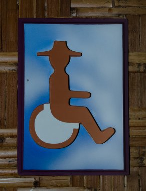Sign of public restroom for handicapped