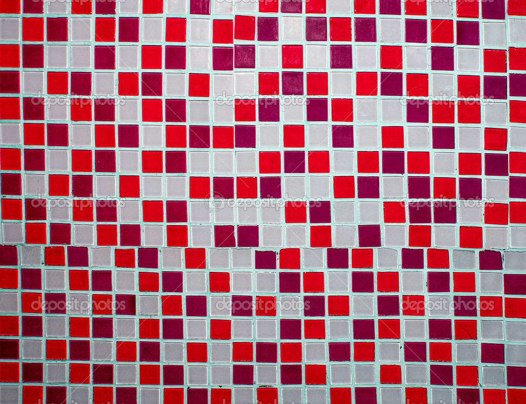 Piastrelle di ceramica colorata decorazione murale u2014 foto stock